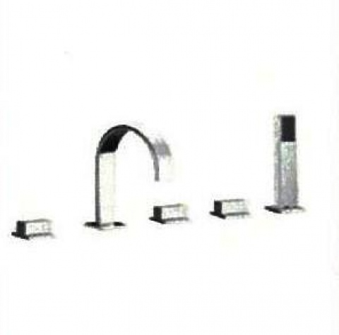 Savona 113-F34-BR6004 5 Hole Bath Shower Mixer